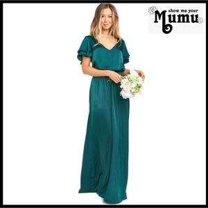 SHOW ME YOUR MUMU FLUTTER SLEEVE MAXI DRESS